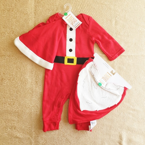 Carter's Other - Nwt Just one you by Carter's Santa bodysuit set